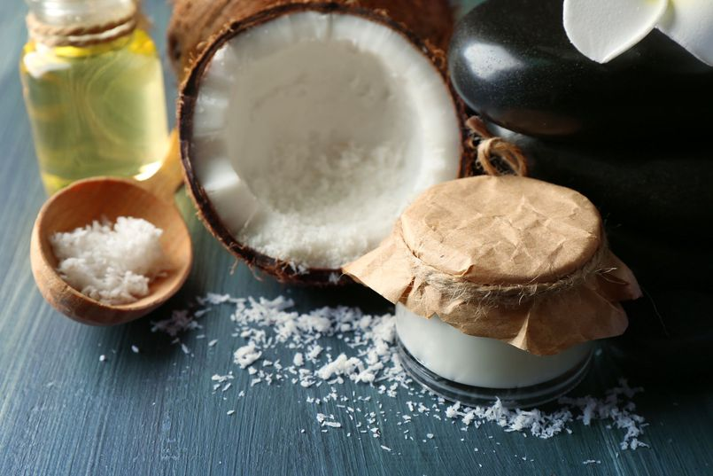 Olej kokosowy w kuchni i łazience