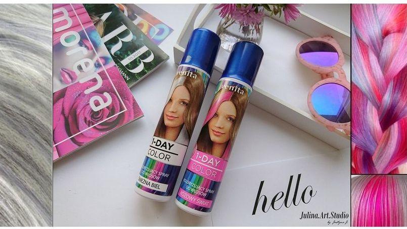 Julina testuje – kolorowe spraye do włosów