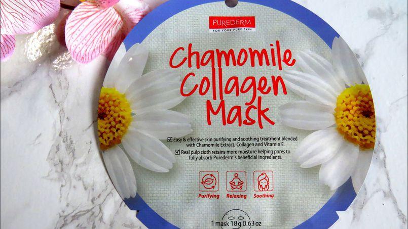 Purederm Chamomile Collagen Mask, czyli kolagenowa maska z rumiankiem